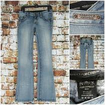 Rerock for Express Women's Boot Cut Light Distressed Wash Blue Jeans Size 2r Guc Photo