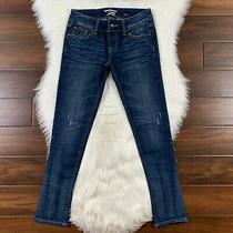 Rerock for Express Women's Size 2 Medium Wash Distress Skinny Denim Jeans Photo