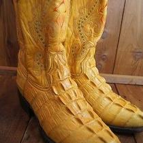 Res Garcia Yellow/tan Faux Croc Leather  7 Men's Western Boots Photo