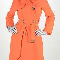 Retail 1120 Moncler Bright Orange Premiere Classic Trench Size 2 Nwt Photo