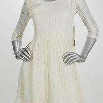 Retail 138 Kensie Birch White Bonded Lace Round Neck Dress Size 6 Nwt Photo