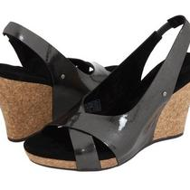 Retail 140 - Ugg Australia Hazel Black Pearlized Patent Sandals - Women's 9 B Photo