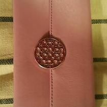Retail 158 Brand New W Tag Very Cute Logo Deco Coach Wallet in Purple Leathe Photo