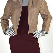 Retail 2598 Ralph Lauren Cappucino 100% Lamb Leather Jacket Size 10 Nwt Photo