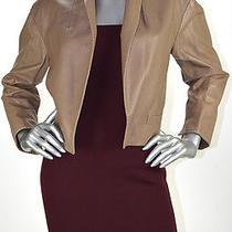 Retail 2598 Ralph Lauren Cappucino 100% Lamb Leather Jacket Size 10 Nwt Photo