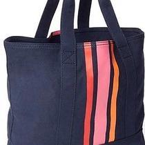 Retail 44.95 Gap Vertical Stripe Utility Canvas Tote Book-Bag Item 320957 Navy Photo