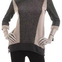 Retail 49 style&co Black Grey Multi 3/4 Sleeve Sweater Size Pm Photo