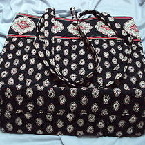 Retired Hard to Find Vera Bradley Classic Tote & Shoppers Handbag Photo