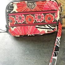 Retired Vera Bradley Cherry Blossoms Small Zip Wristlet  Pink/red/gray Photo