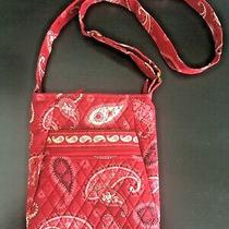 Retired Vera Bradley Red Paisley Bandana Print Crossbody Photo