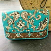 Retired Vera Bradley Totally Turquoise Quick Step Wallet/id Card Case   Photo