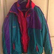 Retro Columbia Ski Snowboard Jacket Interchange 3 In1 Radial Sleeves Men Xltall Photo
