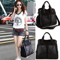 Retro Lady Pu Leathercanvas Messenger Shoulder Handbag Tote Bag Hobo Satchel Zt Photo