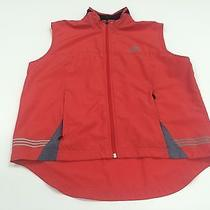 Retro Red Adidas 3m Windbreaker Climaproof Vest Medium M Reflective Run Bike Photo