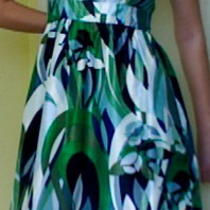 Retro Style Empire Green Dress Photo