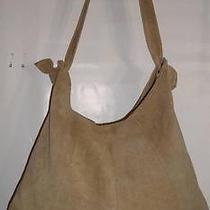 Retro Tan Suede Boho Hobo Bag  / Handbag Photo