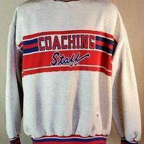 Retro Varsity Spirit Fashions Coaching Staff Sweatshirt Xxl Red White & Blue Photo