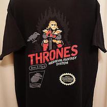 Retro Vtg Game of Thrones Nintendo Video Game Midieval Fantasy Pixels Xl T-Shirt Photo