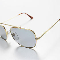 Retrosuperfuture Primo Gold Frame With Blue Lenses Sunglasses Super Photo