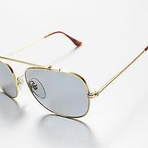 Retrosuperfuture Primo Gold Frame With Blue Lenses Sunglasses Super Photo