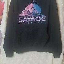 Return to Sender Savage Lifestyle Tiger Hoodie Black Pastal Prism Mens Sz 2xl Photo