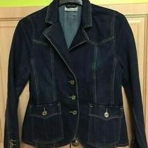 Revanche in Fashion Very Blue Jeans Denim Jacket Size 10 /38 Cotton Excellent Photo