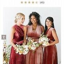 Revelry Blush Velvet Dress - Micah Convertible Velvet Dress Long Photo