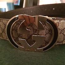 Reversible Gold Gucci Leather Belt Photo