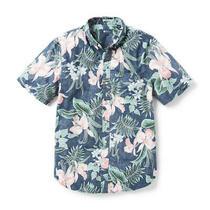Reyn Spooner Orchid Bloom Tailored Buttonfront Shirt Dress Blue - Sale Event Photo
