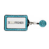 Rhinestone Badge Reel and Vertical Id Card Holder Combo Set  Photo