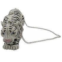 Rhodium Plated Tiger Clutch With Swarovski Crystal Necklace Photo