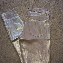 Rich and Skinny Metalic Gold Jeans Photo