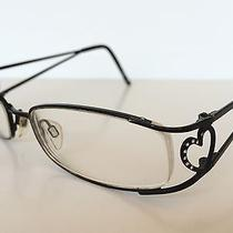 Rich Just Cavalli  Jc 0227 001 Eyeglasses Frame Heart Hinges Decorated Crystals  Photo