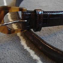 Richard Gampel Paris Brown Moc Croc Belt Size 30 Photo