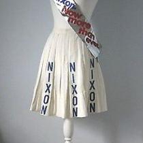 Richard Nixon Presidential Campaign Memorabilia Skirt Banner Now More Than Ever Photo