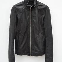 Rick Owens Intarsia Lamb Leather Jacket Lamb Size Xs Photo