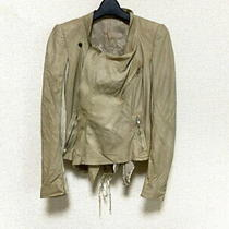 Rick Owens Riders Jacket Size Ita 40 Women 'S Beige Long Sleeves Lamb Leather Photo