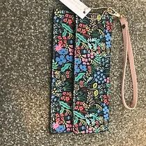 Rifle Paper Co for Anthropologie Pink Suede Lining Spring Clutch Photo