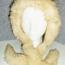 Rike's Dayton Vintage Tuscan Italy Lamb Ivory Red or Amber Tipped Fur Hat Cap Photo