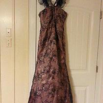Rina Di Montella 1752 Darknavy/blush Size 6 (Nwot) Perfect for Prom Photo