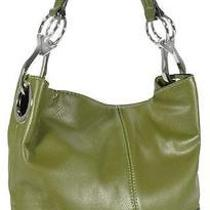 Ring Accented Large Hobo Hand Bag Purse Handbag Hand Bag Purse Dark Olive Photo