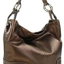 Ring Accented Large Hobo Hand Bag Purse Handbag Hand Bag Purse Metallic Brown Photo