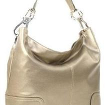 Ring Accented Large Hobo Hand Bag Purse Handbag Hand Bag Purse Pewter Photo