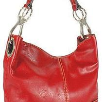 Ring Accented Large Hobo Hand Bag Purse Handbag Hand Bag Purse Red Photo