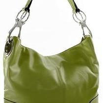 Ring Accented Medium Hobo Hand Bag Purse Handbag Hand Bag Purse Dark Olive Photo