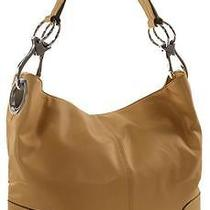 Ring Accented Medium Hobo Hand Bag Purse Handbag Hand Bag Purse Tan Photo