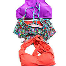 Ripcurl Becca Profile Blush Womens Halter Neck Bikini Swimsuit Tops Size S Lot 3 Photo