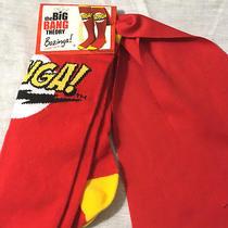 Ripple Junction Big Bang Theory Bazinga Socks W Superhero Cape Adult One Size Photo