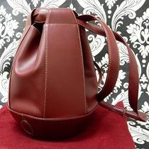 Rise-on Cartier Leather Burgundy Wine Red Handbag Shoulder Bag 6 Photo
