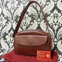 Rise-on Cartier Leather Burgundy Wine Red Shoulder Bag Handbag 12 Photo